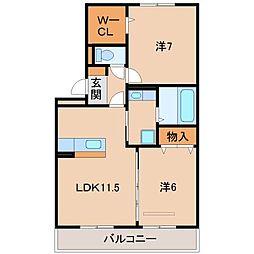 D-roomパストラーレII[2階]の間取り