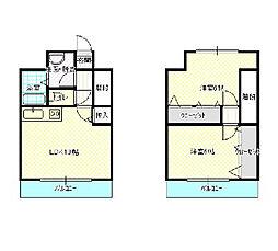 パレス大平[3階]の間取り