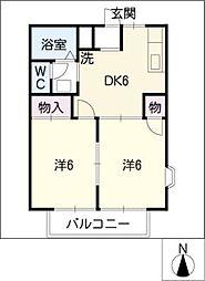 サンシャイン栄[2階]の間取り