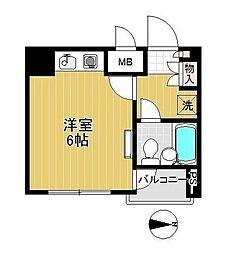 ハイツ柴川[2F号室]の間取り