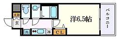 名古屋市営東山線 亀島駅 徒歩3分の賃貸マンション 7階1Kの間取り
