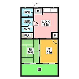 エステート早川[1階]の間取り