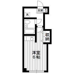 東京都練馬区南田中2丁目の賃貸マンションの間取り