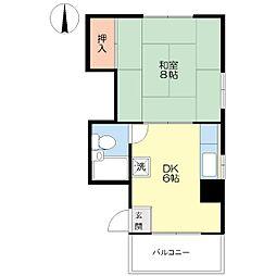 つたやマンション[4階]の間取り