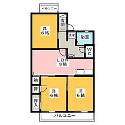 シャンポールY2 A棟[1階]の間取り