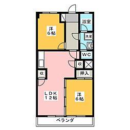 加藤第1ビル[6階]の間取り