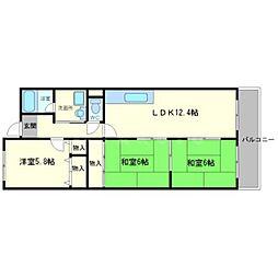 メゾンドールI[2階]の間取り