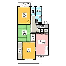 菊園ハイツ[3階]の間取り