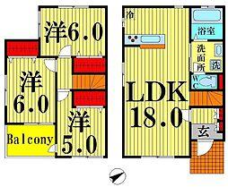 [テラスハウス] 東京都足立区西保木間1丁目 の賃貸【/】の間取り