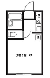 神奈川県相模原市南区相武台2丁目の賃貸アパートの間取り