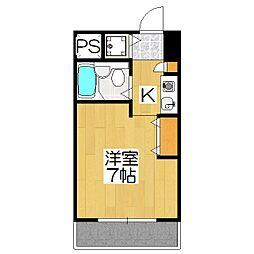 ロイヤル京都上京[504号室]の間取り