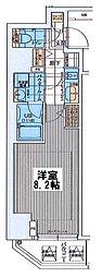 ファーストフィオーレ東梅田[801号室]の間取り