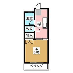 愛知県長久手市長配2の賃貸アパートの間取り