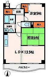 ドリーム菊水[4階]の間取り