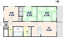 オルゴグラート東大阪[602号室]の間取り