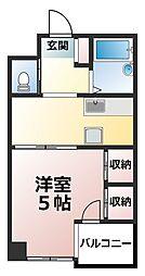セントビック津田沼[1階]の間取り