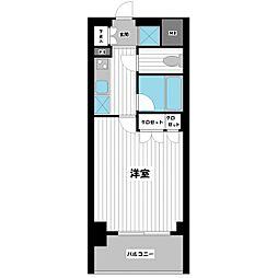 スペーシア川崎III[405号室]の間取り