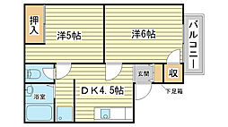 水野アパート[1-3号室]の間取り