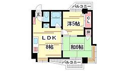 兵庫県神戸市中央区熊内町9丁目の賃貸マンションの間取り