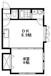 クレセントアミ[2階]の間取り