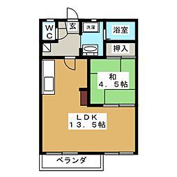 フォーブル緑[2階]の間取り