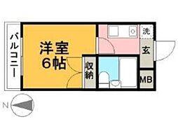 セジュール橋本[2階]の間取り