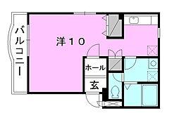久万高原町ネクストマンション 3階ワンルームの間取り