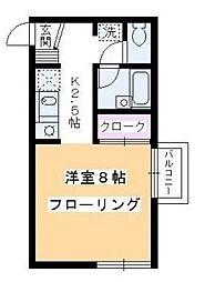 東京都品川区西品川2丁目の賃貸アパートの間取り