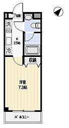 東京都日野市南平8丁目の賃貸マンションの間取り