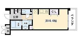 甲子園口マンション雅園荘[303号室]の間取り