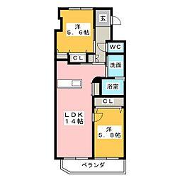 レコルテ[5階]の間取り