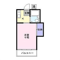 コーポラス湘南[2階]の間取り
