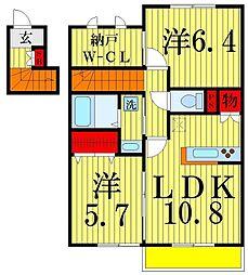 アローキャニオン エコ I[202号室]の間取り