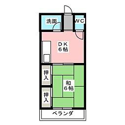 海老塚マンション東[1階]の間取り