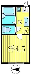 メゾンカシマ[2階]の間取り
