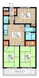 ペルレシュロスPart I A棟[2階]の間取り