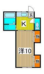 ハイムイースト[2階]の間取り