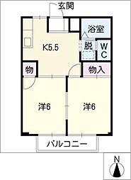 メゾングレイス[2階]の間取り