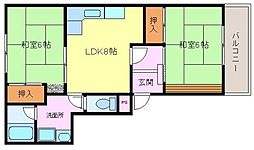 メゾンドールサンパート2[1階]の間取り