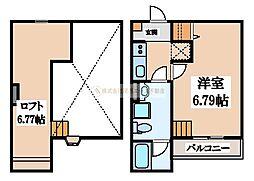 Blossom Sakai(ブロッサムサカイ)[2階]の間取り