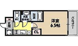 エスリード京橋桜ノ宮公園 13階1Kの間取り