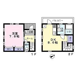 [テラスハウス] 千葉県八千代市大和田 の賃貸【/】の間取り