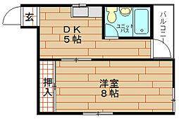 松本ハイツ[1階]の間取り