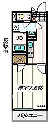 埼玉県さいたま市浦和区常盤2丁目の賃貸マンションの間取り
