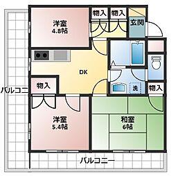 第一八千代ビル[407号室]の間取り