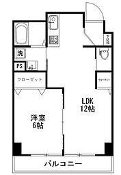 尾崎ビル[4階]の間取り
