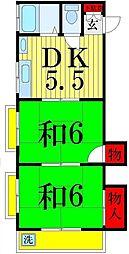 第2倉沢コーポ[203号室]の間取り