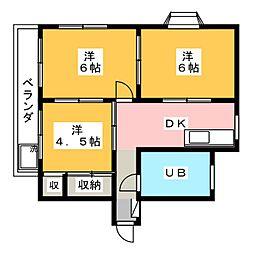 ロイヤルマンション 3階3DKの間取り