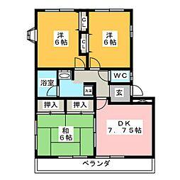 プレジデント篭屋[3階]の間取り