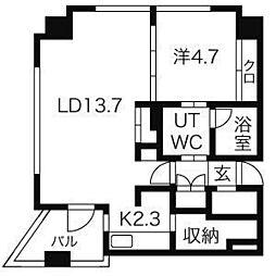 YZ mahoroba[7階]の間取り